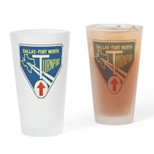 Dallas Fort Worth Turnpike Drinking Glass