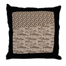 Coffee and Beans Throw Pillow