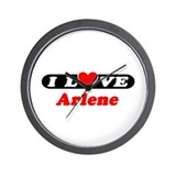 I Love Arlene Wall Clock