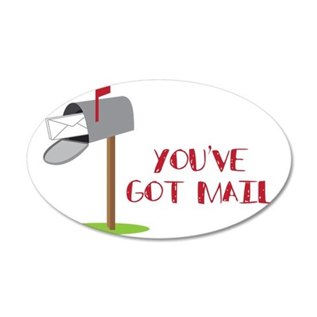 You've Got Mail 35x21 Oval Wall Decal