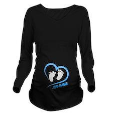 Funny Peek boo Long Sleeve Maternity T-Shirt