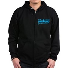 Whats your problem? in funky blue type Zip Hoodie