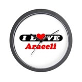 I Love Araceli Wall Clock