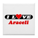I Love Araceli Tile Coaster