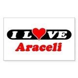 I Love Araceli Rectangle Decal