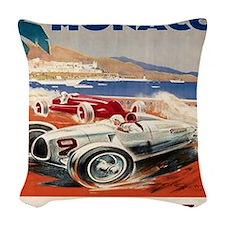1936 Monte Carlo Grand Prix Po Woven Throw Pillow