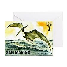 San Marino 1965 Pteranodon Postage S Greeting Card