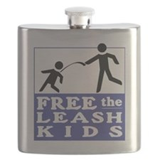 Free the Leash Kids Flask