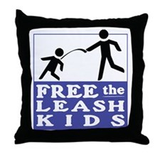 Free the Leash Kids Throw Pillow