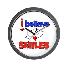 ... smiles Wall Clock