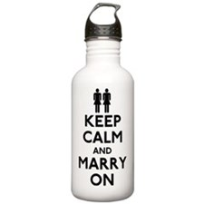 Gay Keep Calm and Marr Water Bottle