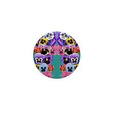 pansy flip flops Mini Button