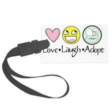 Love Laugh Adopt Luggage Tag