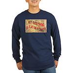 Flat N Dakota Long Sleeve Dark T-Shirt