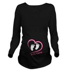 Zipper Long Sleeve Maternity T-Shirt