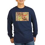 Flat Wyoming Long Sleeve Dark T-Shirt