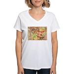 Flat Wyoming Women's V-Neck T-Shirt