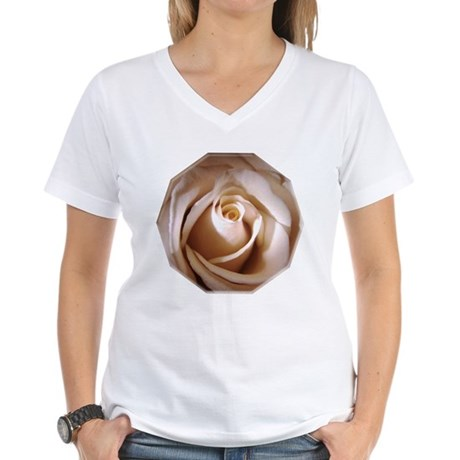 Ivory Rose Women's V-Neck T-Shirt