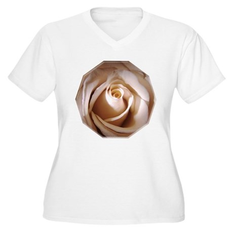 Ivory Rose Women's Plus Size V-Neck T-Shirt