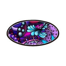Blue and Purple Paisley Patches