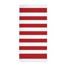 Red And White Stripe Beach Towel