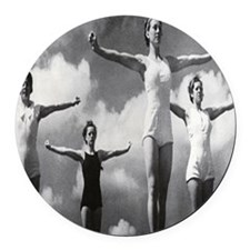 Woman athletes Round Car Magnet