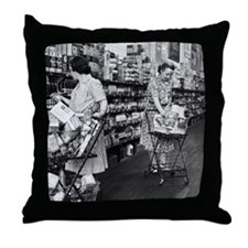 1930s grocery store Throw Pillow