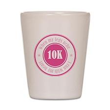 10K Runner's Badge Shot Glass