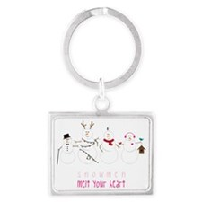 Snowmen Melt Your Heart Landscape Keychain