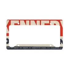kennedy for president bumper  License Plate Holder