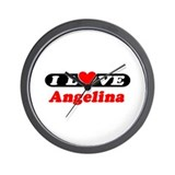I Love Angelina Wall Clock