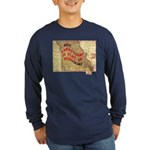 Flat Missouri Long Sleeve Dark T-Shirt