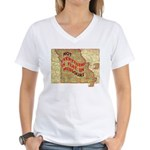 Flat Missouri Women's V-Neck T-Shirt