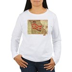Flat Missouri Women's Long Sleeve T-Shirt