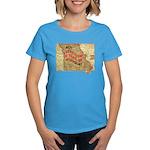Flat Missouri Women's Dark T-Shirt