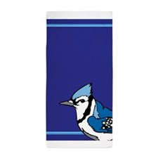 Blue Jay Bird Beach Towel