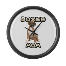Boxer Mom Large Wall Clock