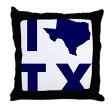 I Love Texas Throw Pillow