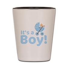 its a boy Shot Glass