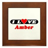 I Love Amber Framed Tile
