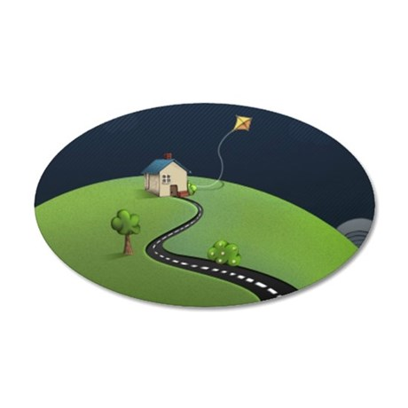 journey to baby 35x21 Oval Wall Decal