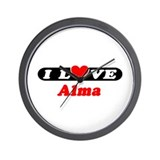 I Love Alma Wall Clock