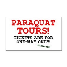POISON - PARAQUAT TOURS. Rectangle Car Magnet