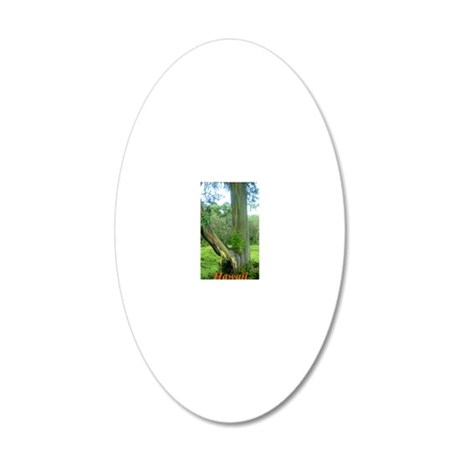Tree2 20x12 Oval Wall Decal