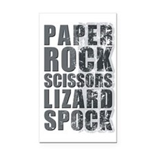 paper rock scissors lizard sp Rectangle Car Magnet
