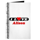 I Love Alison Journal