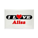 I Love Alisa Rectangle Magnet (100 pack)