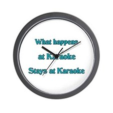 What happens at Karaoke Stays Wall Clock
