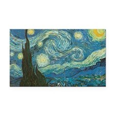 Starry Night van Gogh Rectangle Car Magnet