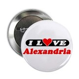 "I Love Alexandria 2.25"" Button (100 pack)"